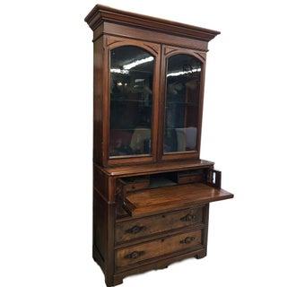 Antique Walnut Butler's Desk