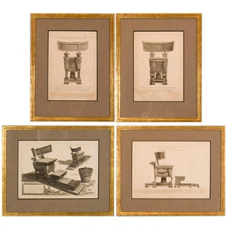 Greek Copper Plate Engravings - Set of 4
