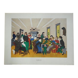 "Antique Lithograph ""Quilting Party"""