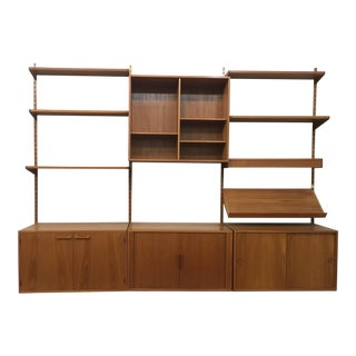 Mid-Century Danish Kai Kristiansen Wall Shelf Unit