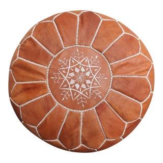 Aladdin's Pouf Moroccan Leather Floor Pouf