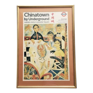 """John Bellany """"Chinatown by Underground"""" Poster"""