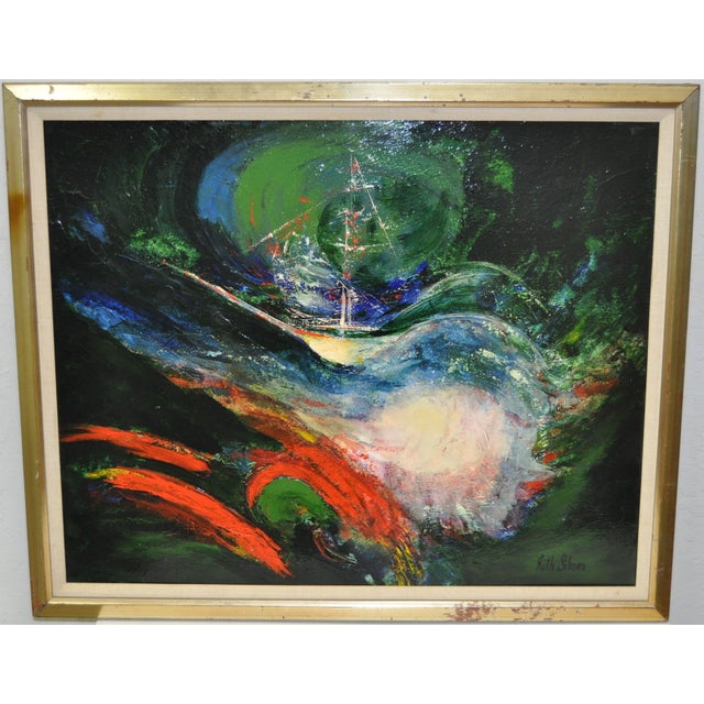 Ruth Silnes 1960'S Acrylic Abstract Painting - Image 2 of 5