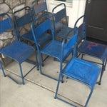 Image of Vintage Bali Metal Garden Chairs - Set of 7