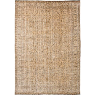 "Pastel Vintage Turkish Overdyed Rug - 6'9"" x 9'10"""