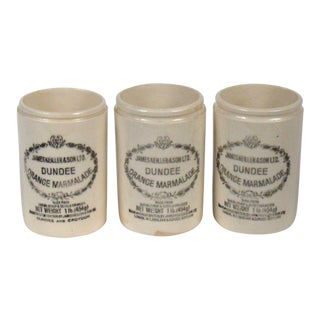 Vintage English Marmalade Jars - Set of 3