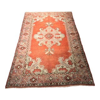 "Bellwether Rugs Auburn Colored Vintage Turkish Oushak Rug - 4'4""x7'1"""