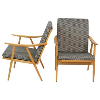 Danish Modern Ornp Brno Lounge Chairs - A Pair