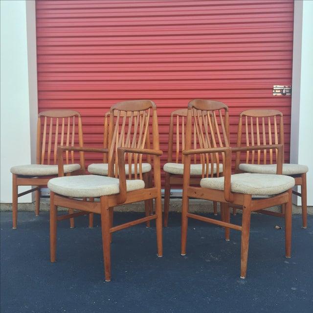 Danish Modern Style Teak Dining Chairs - Set of 6 - Image 2 of 11