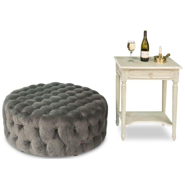 Sarreid LTD Manda Velvet Coffee Table - Image 2 of 2