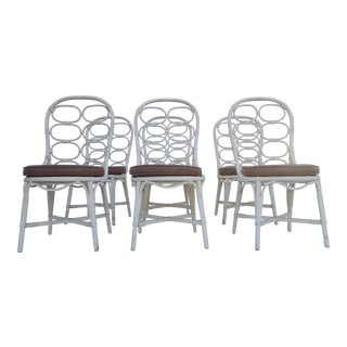 Franco Albini Inspired Rattan Dining Chairs - Set Of 6