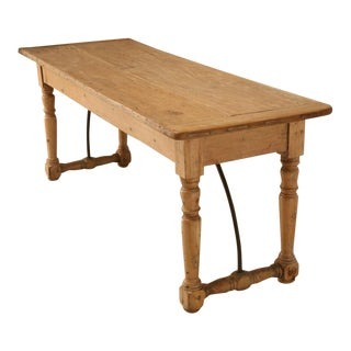 Circa 1820 Original Antique Irish Pine Work Table