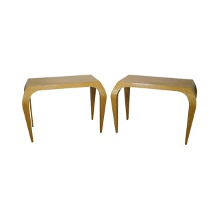 Studio Crafted Birdseye Maple Art Deco Style Console Tables - A Pair