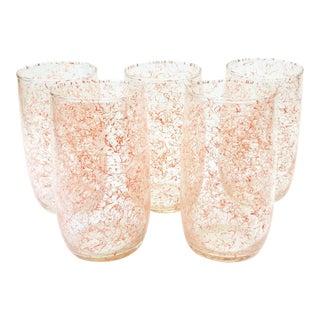 Vintage Pink Squiggle Tumblers - Set of 5