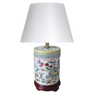Petite Chinoiserie Cloisonné Ceramic Table Lamp