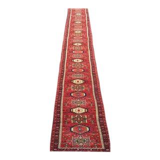 Persian Heriz Red Runner - 2' x 38'