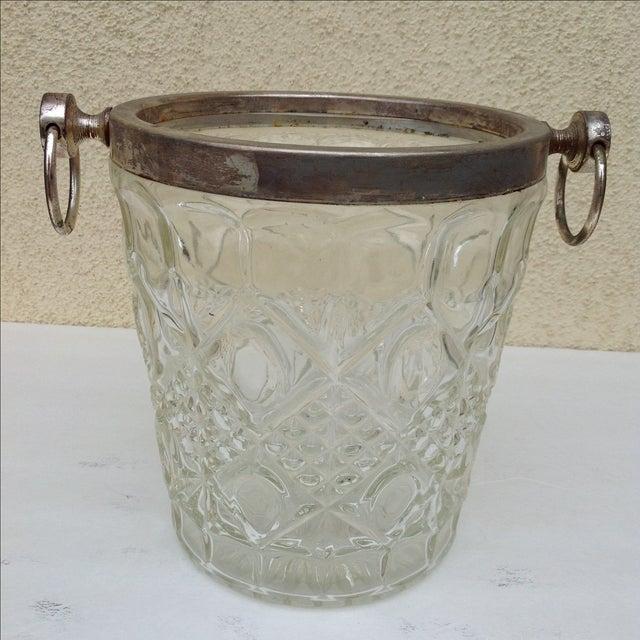 Mid Century Crystal Ice Bucket - Image 7 of 7