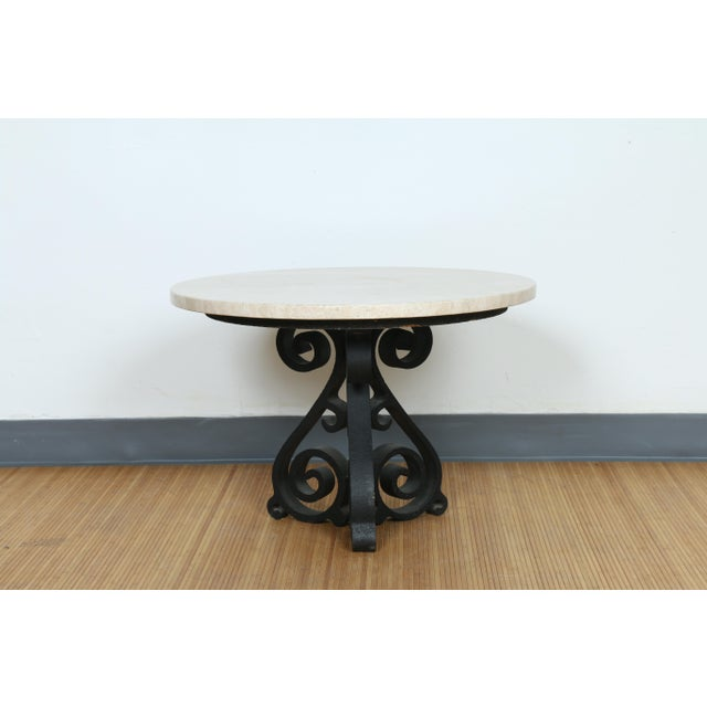 Wrought Iron Small Side Table - Image 5 of 11