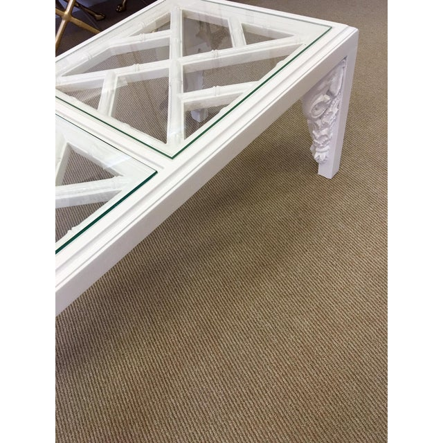 Vintage White Lacquer Elephant Coffee Table - Image 5 of 6
