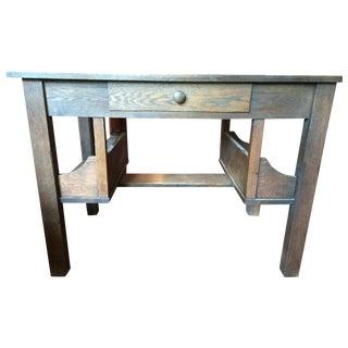 Antique Mission Style Arts & Crafts Oak Desk