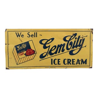 "Vintage ""Gem City Ice Cream"" by Glove Sign Company"