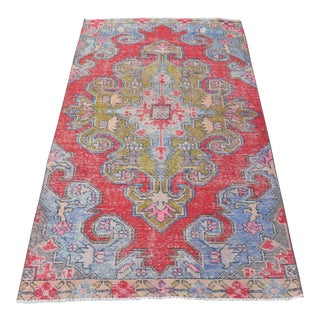 "Turkish Anatolian Handwoven Antique Carpet - 43"" x 80"""