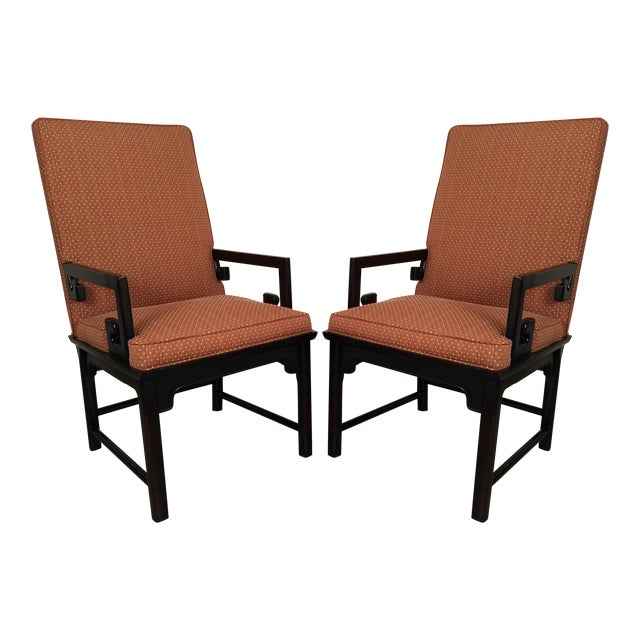 Image of Michael Taylor Baker Greek Key Chairs - Pair