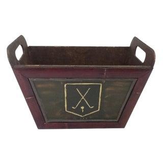 Vintage Golf Motif Box