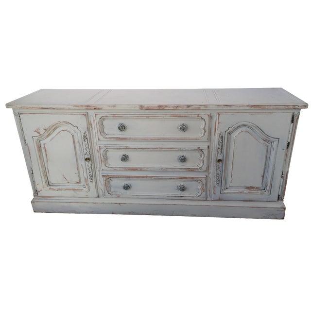 Image of White Shabby Chic Rosette Dresser