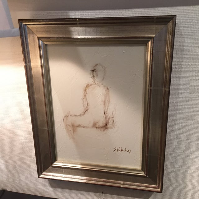 Signed Nude on Canvas by Stephanie Wheeler - Image 2 of 7