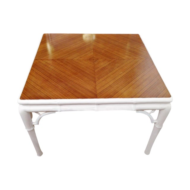 Image of Hollywood Regency Bamboo Coffee Table