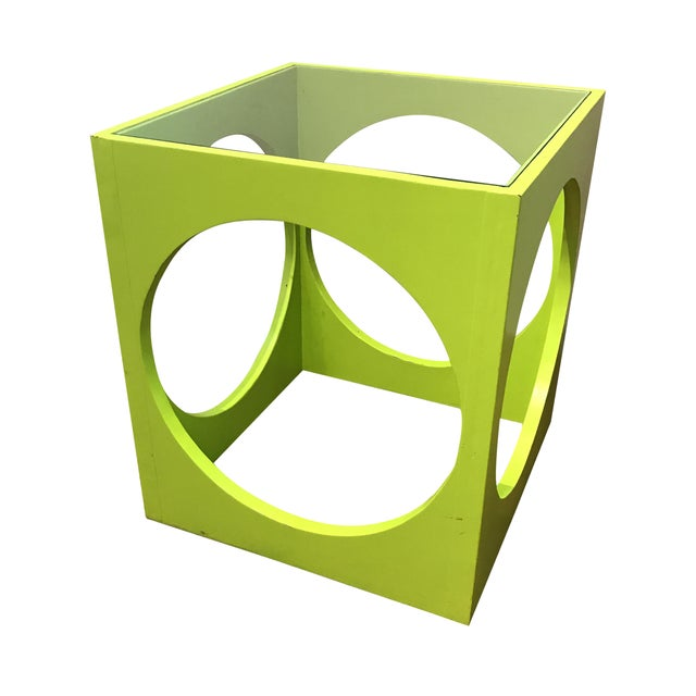 Adrian Pearsall Lime Green Cube Table - Image 1 of 6