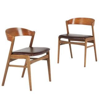 Kai Kristiansen Danish Modern Dining Side Chairs - A Pair