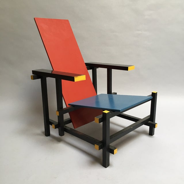 The Red and Blue Chair by Gerrit Rietveld - Image 2 of 5