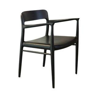 Vintage Danish Moller 57 Original Black Arm Chair