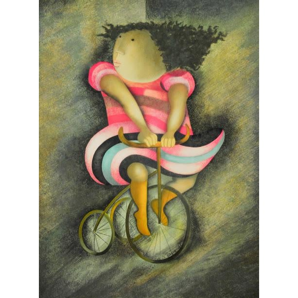 """Limited Lithograph """"Girl on Tricycle"""" by Graciela Rodo Boulanger - Image 3 of 8"""