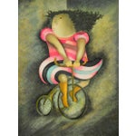 """Image of Limited Lithograph """"Girl on Tricycle"""" by Graciela Rodo Boulanger"""