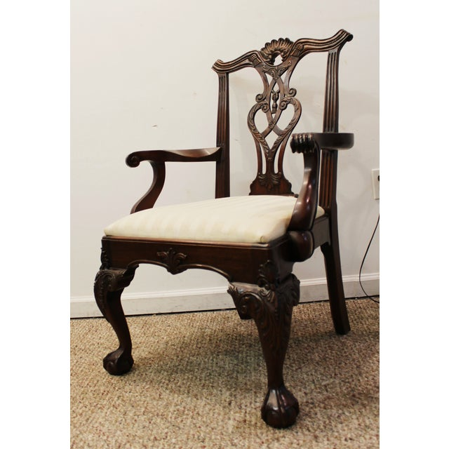 Chippendale Ball & Claw Foot Armchair - Image 3 of 10