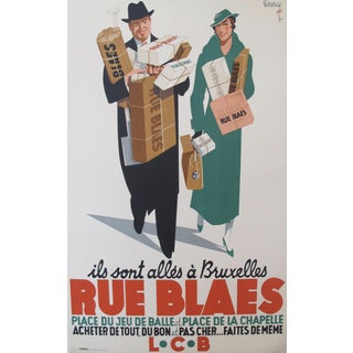 Belgian Art Deco Shopping Poster