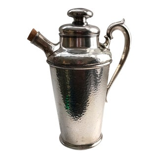 International Silver Co. Hammered Cocktail Shaker