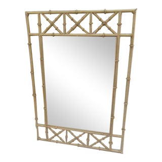 Metal Faux Bamboo Mirror