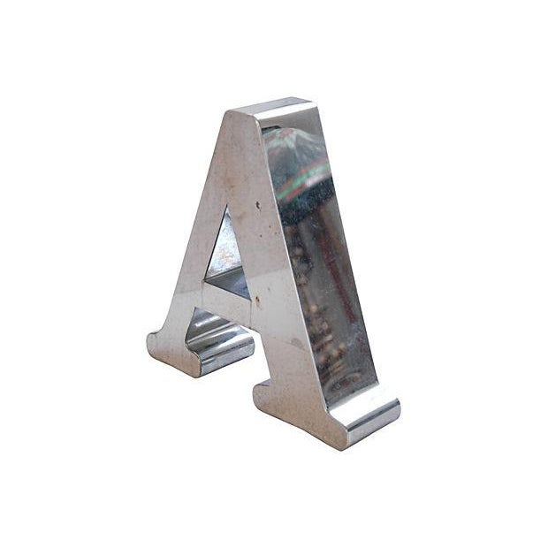 1970s Stainless Steel Marquee Letter A - Image 4 of 4