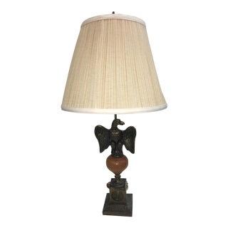 Vintage Brass Eagle Base Table Lamp
