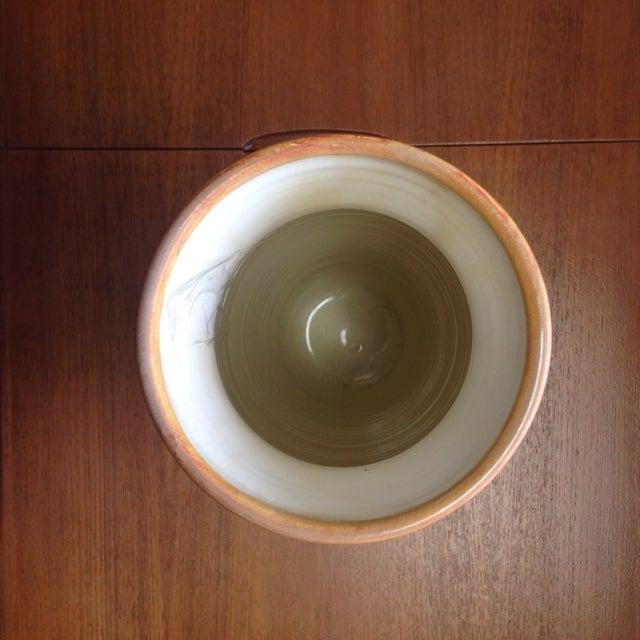 Image of Orange/Beige Tall Mid Century Glazed Vase