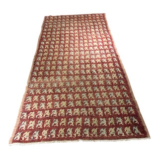 Bellwether Rugs Vintage Zeki Muren Turkish Rug- 4' X 9'1""