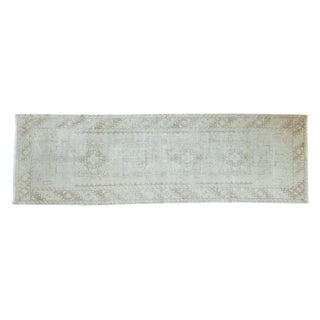 Vintage Distressed Oushak Rug Runner - 3' x 9'8""