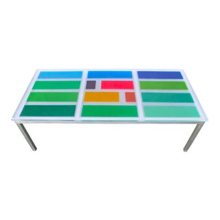 Modern Multi Color Resin Dining Table