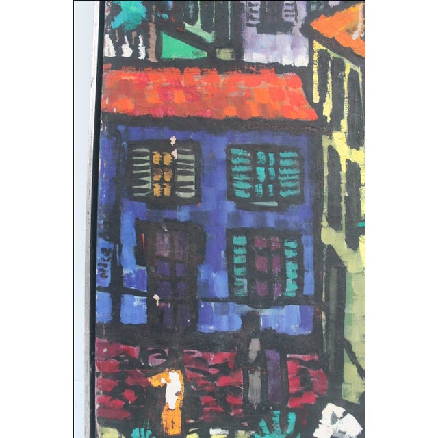 Image of Cityscape Abstract Painting by Feomanol