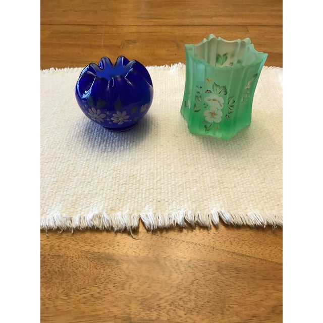 Vintage Fenton Art Glass Hand Painted Vases - A Pair - Image 2 of 11
