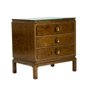 Swedish Grace Reversed Gilded and Birch Commode